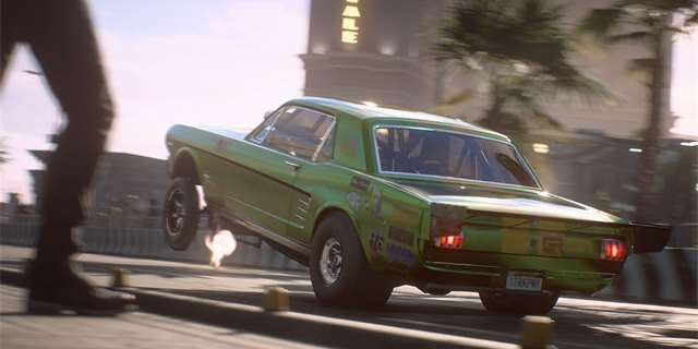 Need for Speed Payback pálí pneumatiky ve startovním traileru